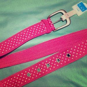 Girls pink polka dot belt size 4-7 NWT